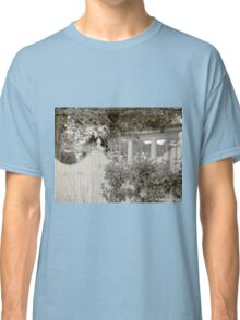 white picket fence and trees Classic T-Shirt
