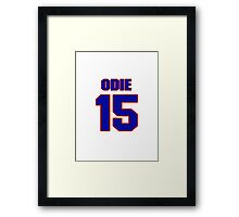 Basketball player Odie Spears jersey 15 Framed Print