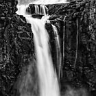 Iguazu Falls - Fall to the Rocks - Monochrome by photograham