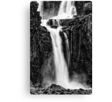 Iguazu Falls - Fall to the Rocks - Monochrome Canvas Print