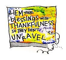 Hem with Thankfullness by Meghan Stone
