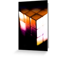 Rubix Cube - Lenbaby gradient effects Greeting Card