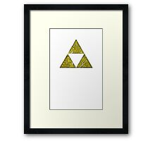 Grungy Golden Triangles Framed Print