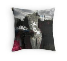 She has her head in the clouds Throw Pillow