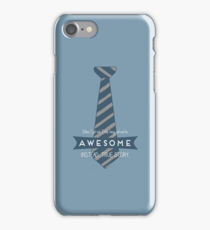Be AWESOME instead iPhone Case/Skin