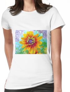 Woodstock flower Womens Fitted T-Shirt