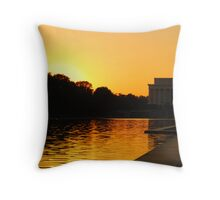 Sunset On History Throw Pillow