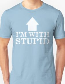 I'm With Stupid Funny Geek Nerd T-Shirt