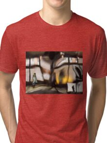 NYC Subway Station Multiple exposure Tri-blend T-Shirt