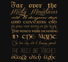 Misty Mountains Thorin's Song by themoderngeek