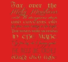 Misty Mountains Thorin's Song Kids Clothes