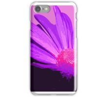 Pink and Purple Painterly Style Flower Art iPhone Case/Skin