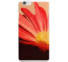 Orange Red and Yellow Flower in Painterly Style Photograph iPhone Case/Skin