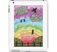 Birds on the wire 2 iPad Case/Skin