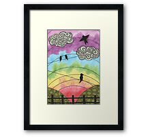 Birds on the wire 2 Framed Print