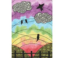 Birds on the wire 2 Photographic Print