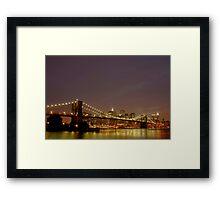 Fiery Sky - New York Framed Print