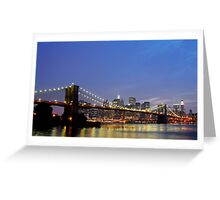 Over The Brooklyn Bridge Greeting Card