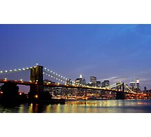 Over The Brooklyn Bridge Photographic Print