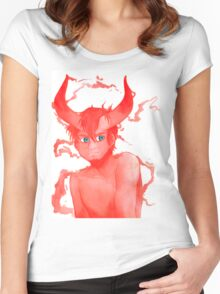 Red Horns, Blue Eyes, White Lies Women's Fitted Scoop T-Shirt