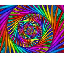 Rainbow Psychedelic Spiral Fractal  Photographic Print