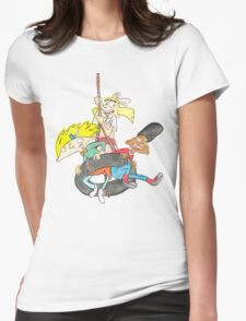 Arnold, Gerald and Helga Womens Fitted T-Shirt