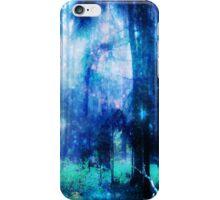 Blue night wood iPhone Case/Skin