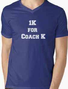 1K for Coach K Mens V-Neck T-Shirt