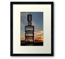 Bottled Sunset Cape Breton Nova Scotia Framed Print