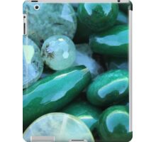 green stones iPad Case/Skin