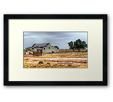 Shearing Shed on the Conargo Road Framed Print