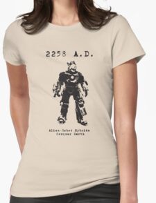 2258 A.D. This time he wants more than just cats... Womens Fitted T-Shirt
