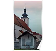 The village church of Waldburg II   architectural photography Poster