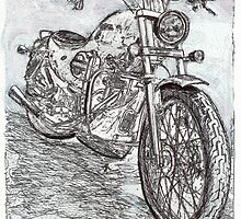 Motorcycle Drawing by RDRiccoboni