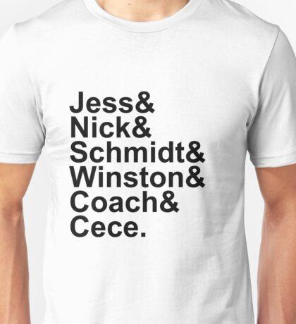 New Girl Name Design- Black Text Unisex T-Shirt