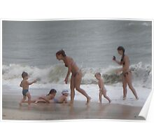 Lil kid's SURF Playing Poster