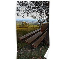 Bench with nature and scenery | landscape photography Poster