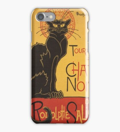 Soon, the Black Cat Tour by Rodolphe Salis iPhone Case/Skin