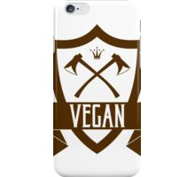 VEGAN COAT OF ARMS iPhone Case/Skin