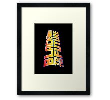 McSuperfly Special (Black to the Future) v2 Framed Print