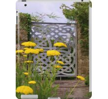 Yellow Tansy and a Gate iPad Case/Skin