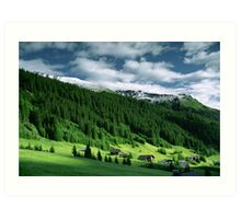 Morning snow, Gargellen, Austria Art Print