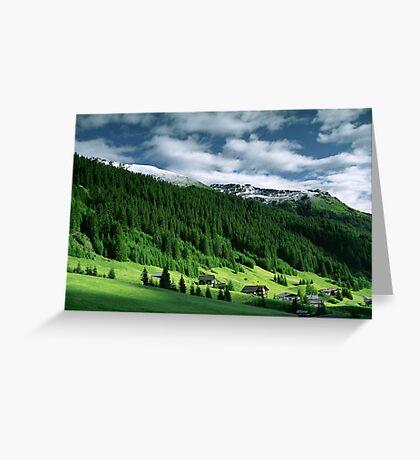 Morning snow, Gargellen, Austria Greeting Card