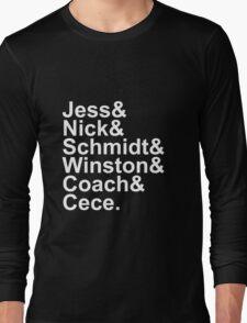 New Girl Name Design- White Text Long Sleeve T-Shirt