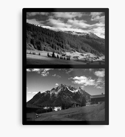 Morning snow, Montafon, Austria Metal Print