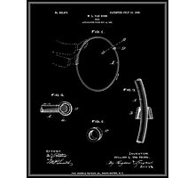Hula Hoop Patent - Black Photographic Print