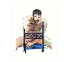 The Blue Chair Art Print