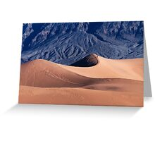 Sunrise over Mesquite Flat Sand Dunes Greeting Card