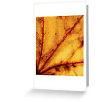 Golden Leaf Greeting Card