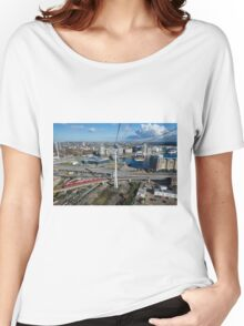 Thames Cable Car over London's Docklands Women's Relaxed Fit T-Shirt